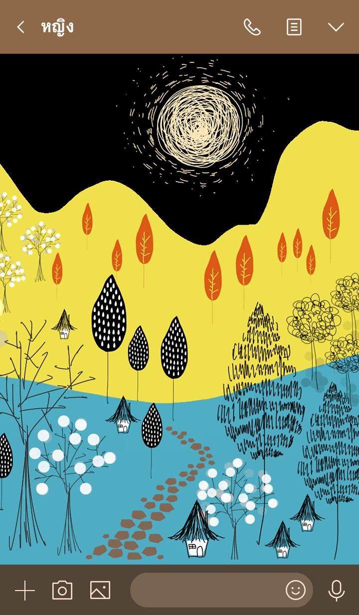 ธีมไลน์ A unique Scandinavian forest world