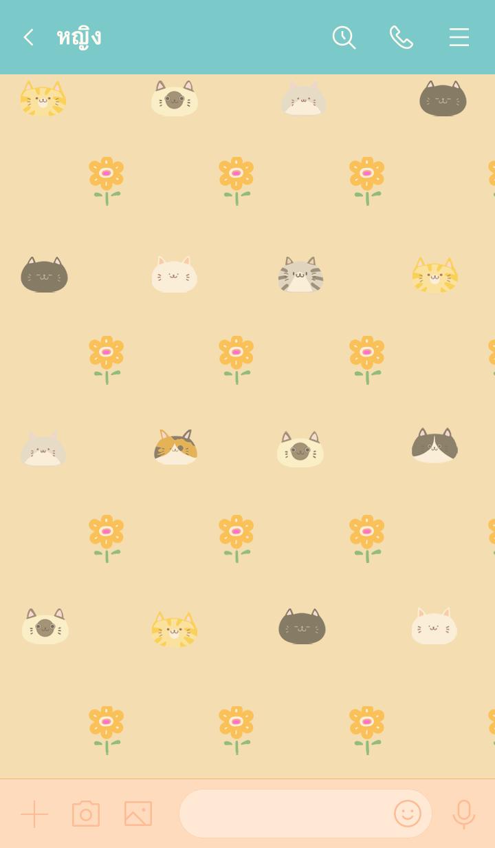 ธีมไลน์ Kaima Scandinavian cute cat