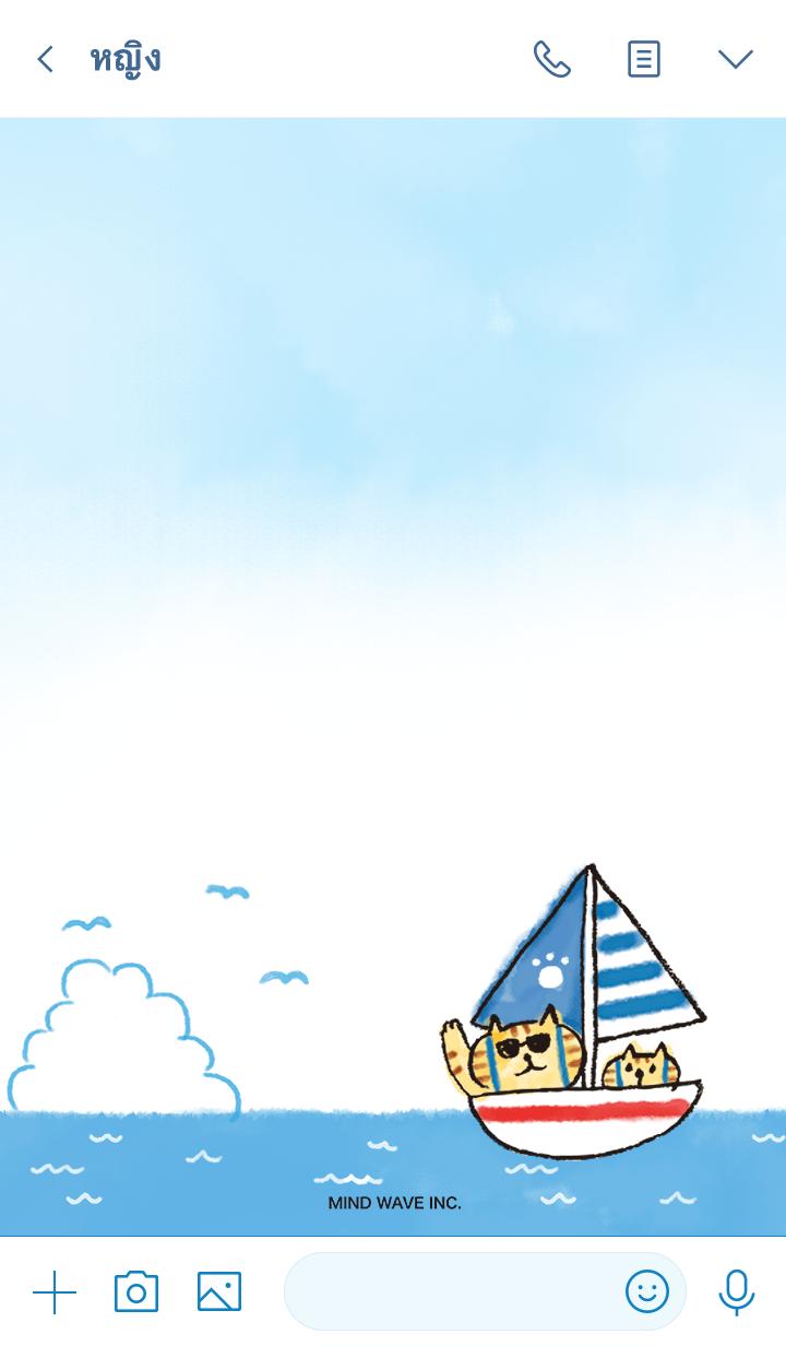 ธีมไลน์ Lazy Nyansuke 5