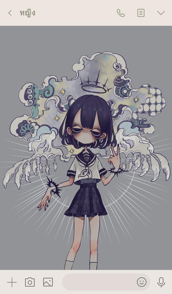 ธีมไลน์ Dark Psychology Girl 2