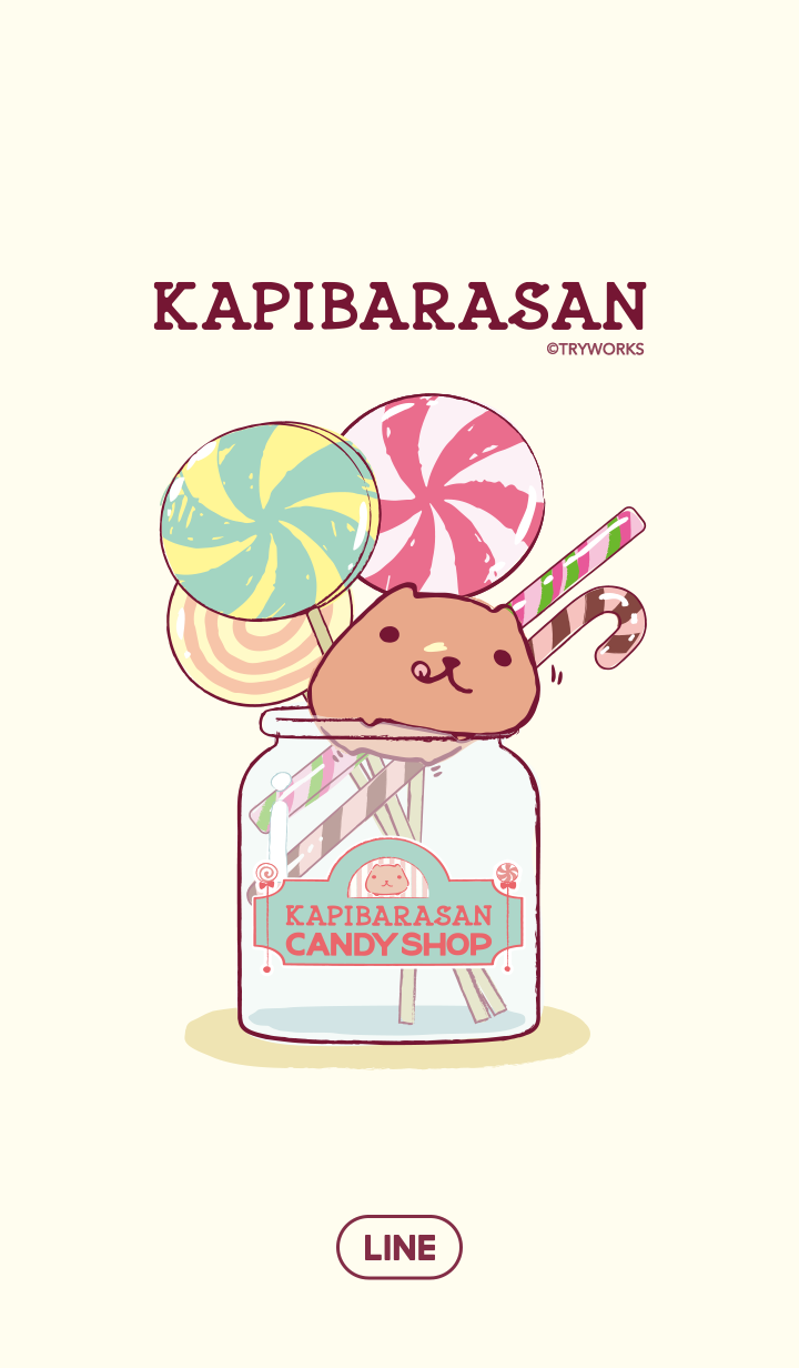 ธีมไลน์ KAPIBARASAN KYURUTTO CANDY SHOP