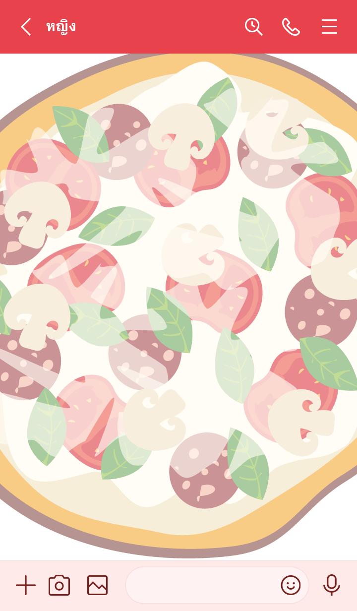 ธีมไลน์ Simple Pizza..2