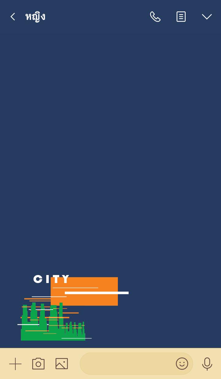 ธีมไลน์ City (blue ver.)