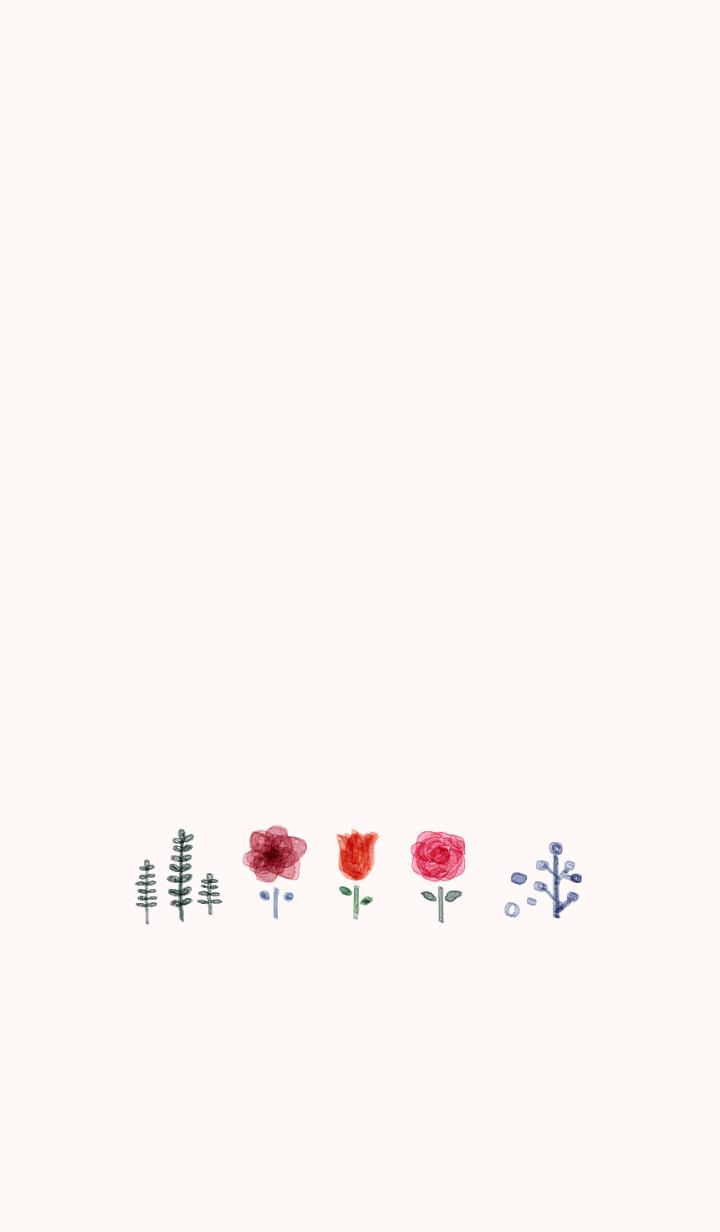 ธีมไลน์ otona cawaii suisai Flower
