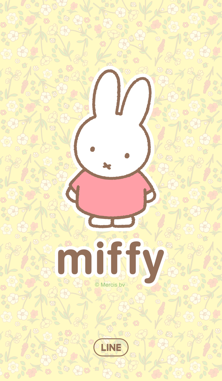 ธีมไลน์ Miffy Flower Theme