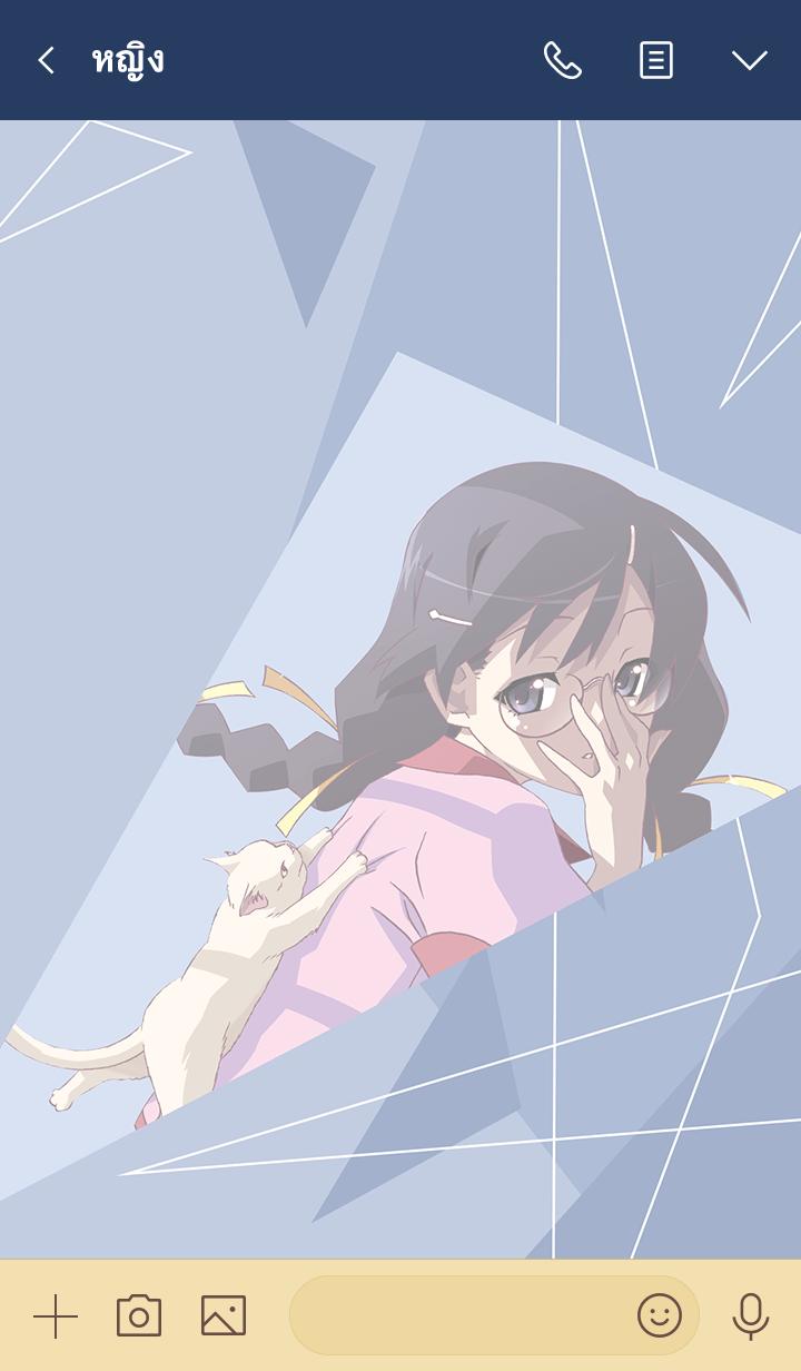 ธีมไลน์ MONOGATARI Series(Hanekawa Tsubasa)