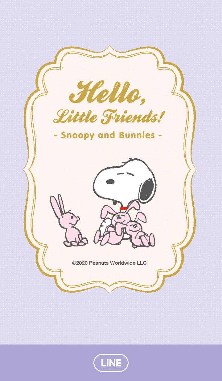 ธีมไลน์ Snoopy & Bunnies