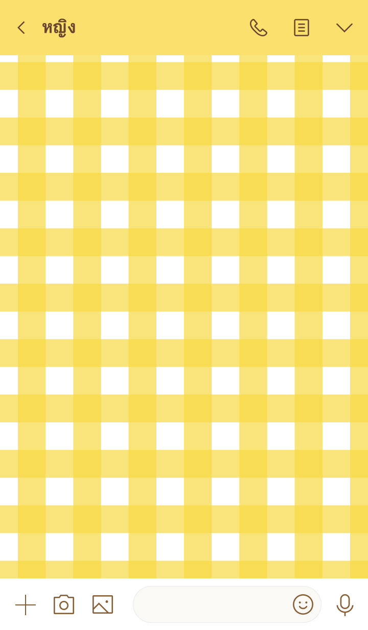 ธีมไลน์ Simple check: gingham check (yellow) (J)