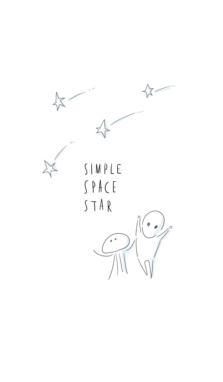 ธีมไลน์ simple space Star