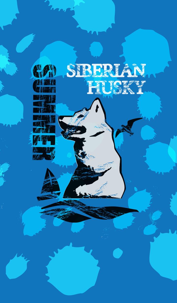 ธีมไลน์ SIBERIAN HUSKY & SUMMER THEME