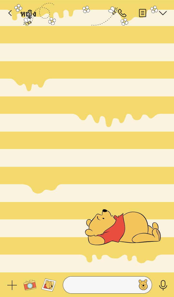 ธีมไลน์ หมีพูห์ น้ำผึ้งลายทาง