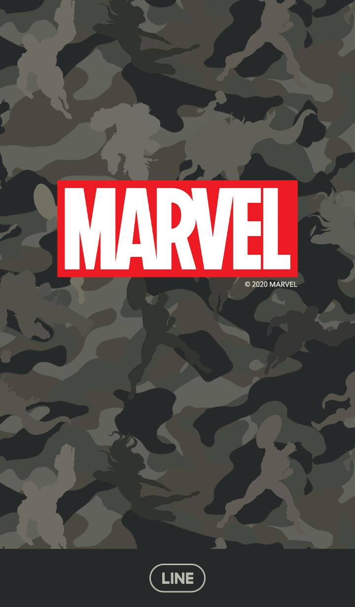 ธีมไลน์ Marvel Comics Camouflage