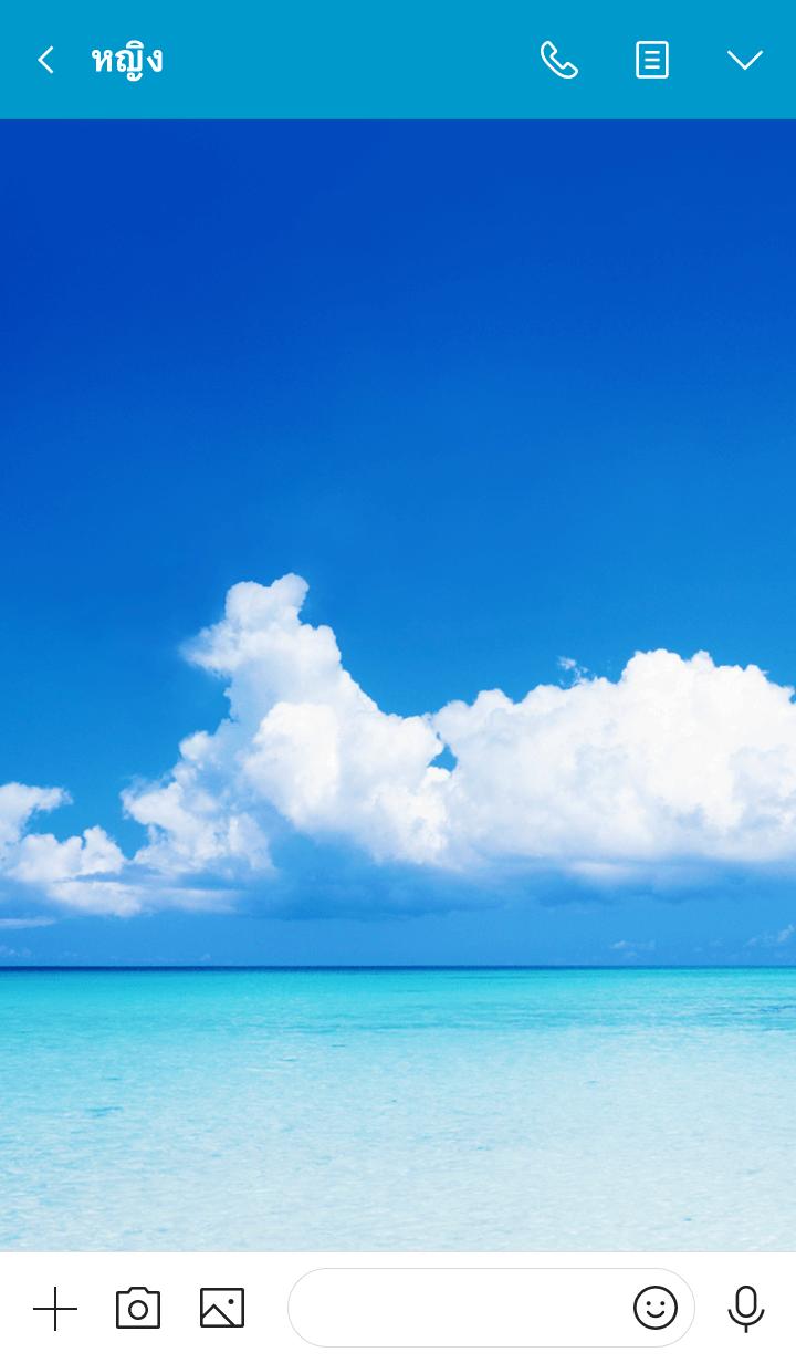 ธีมไลน์ Crystal clear Sea