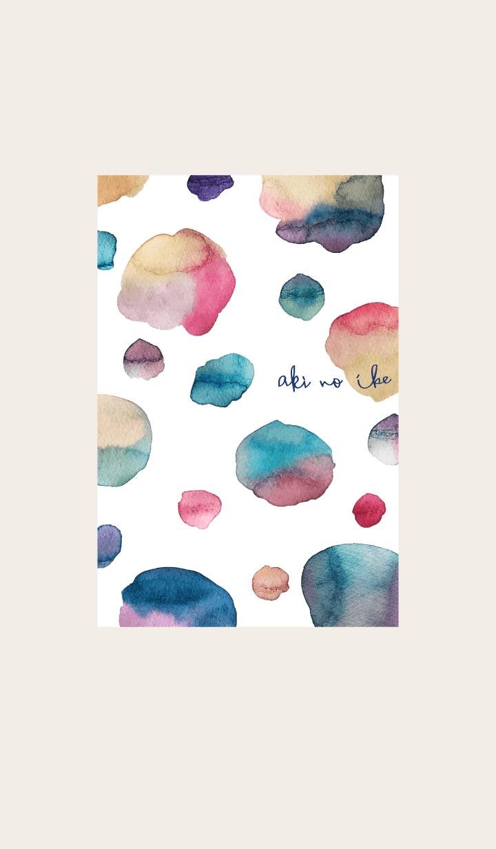 ธีมไลน์ Autumn pond theme. watercolor