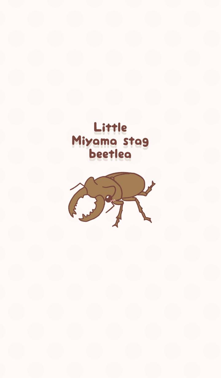 ธีมไลน์ Little Miyama stag beetle!