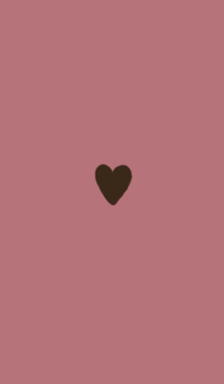 ธีมไลน์ HEART / DULL PINK