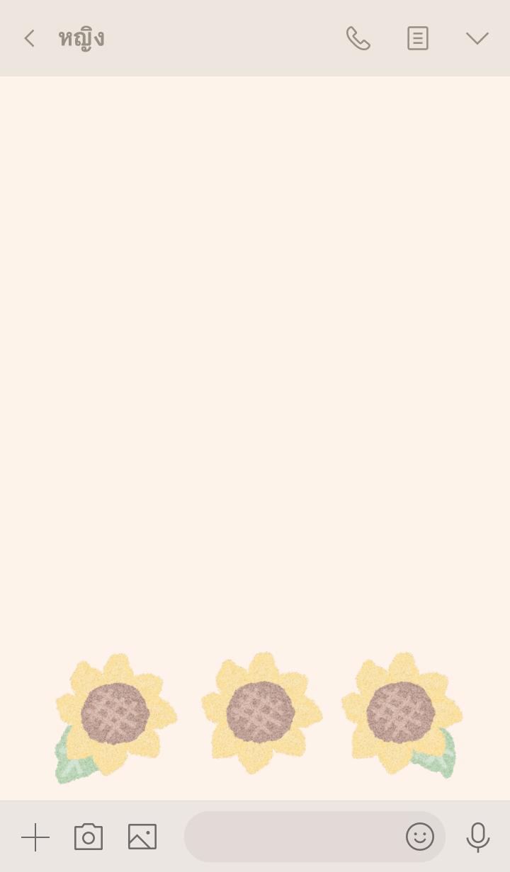 ธีมไลน์ dull color sunflower