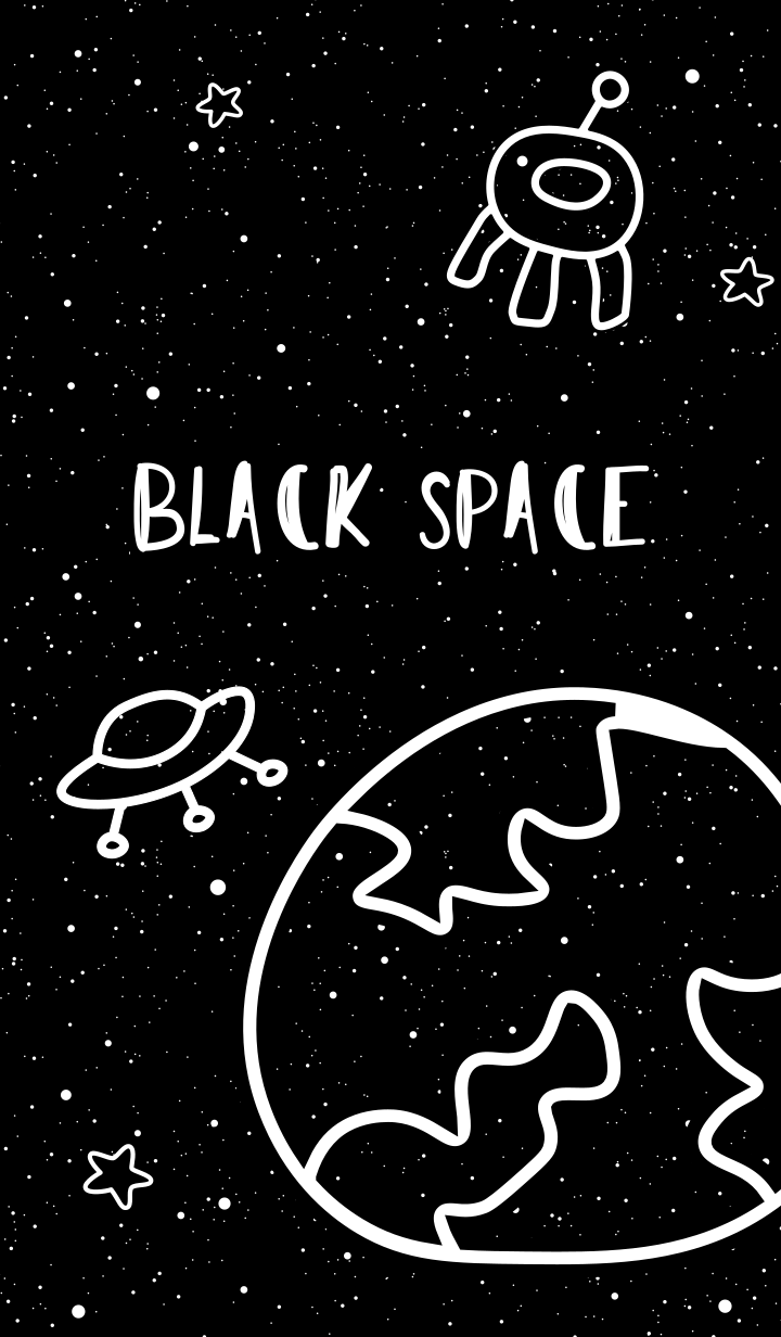 ธีมไลน์ อวกาศสีดำ