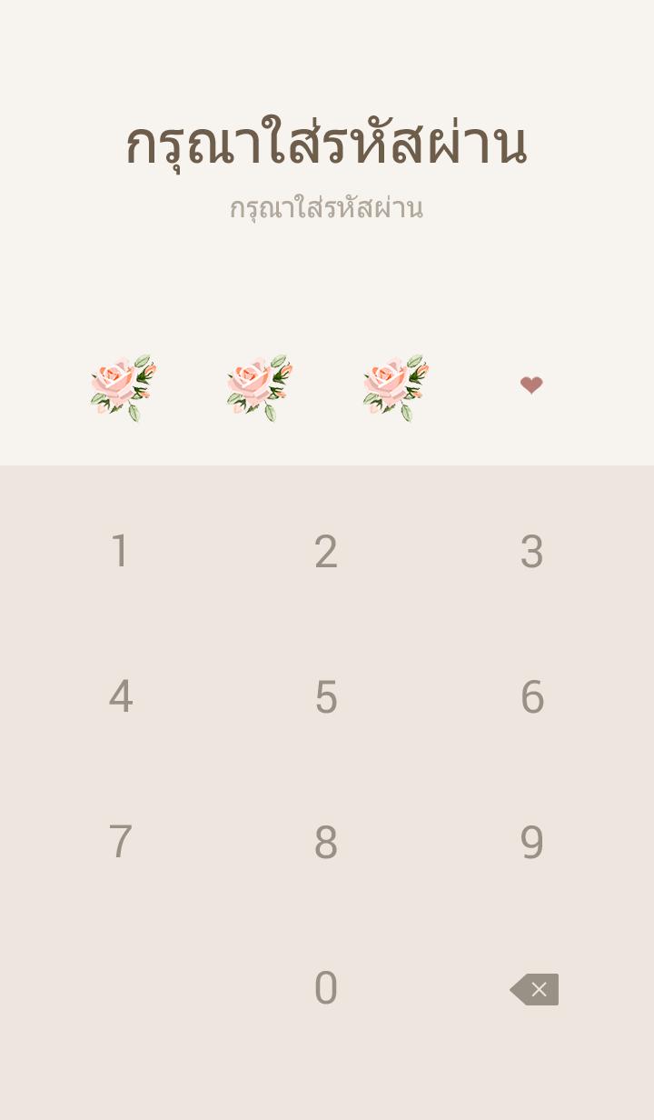 ธีมไลน์ rose flower vintage pink simple