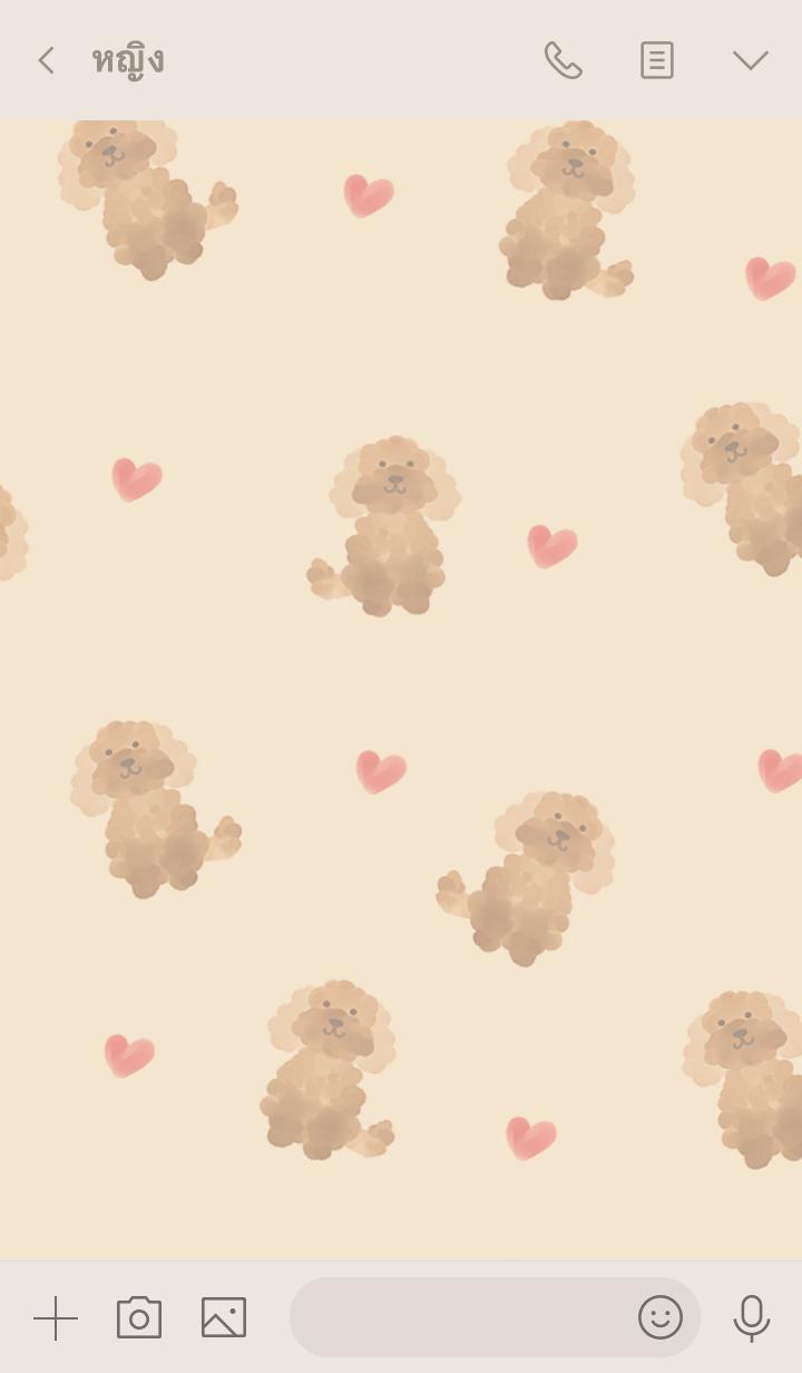 ธีมไลน์ toy poodle.4
