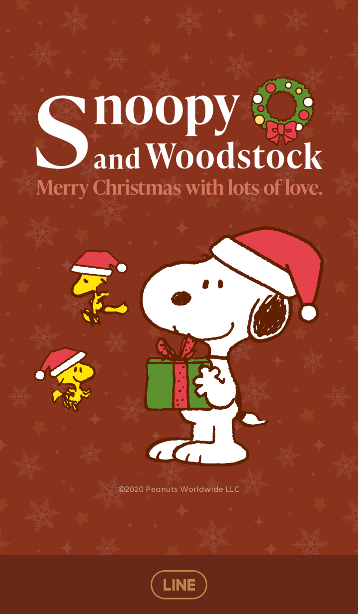 ธีมไลน์ Snoopy & Woodstock คริสต์มาส