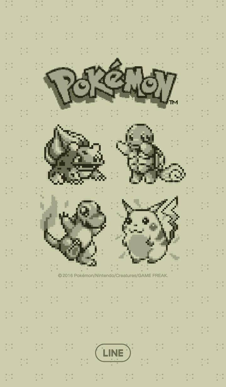 ธีมไลน์ Pokémon ลายพิกเซล