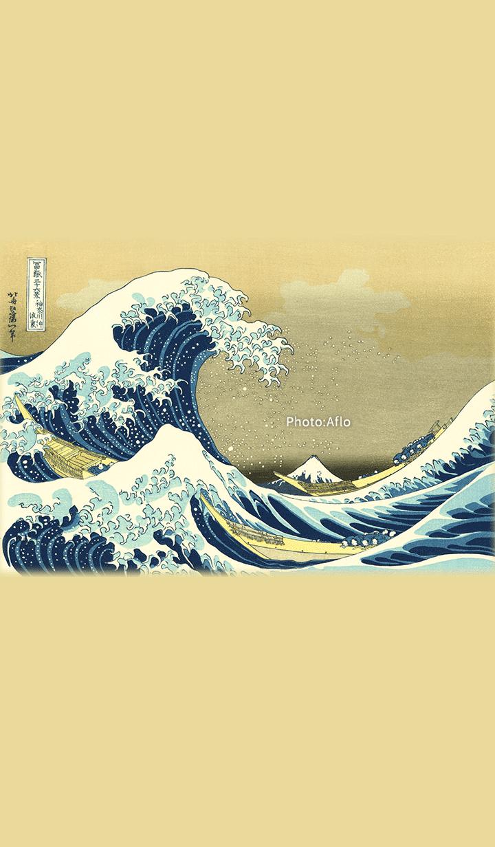 """ธีมไลน์ """"The Great Wave off Kanagawa"""""""