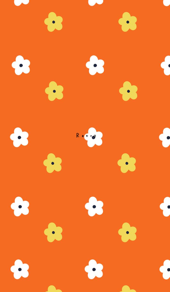 ธีมไลน์ Retro style. Floral.
