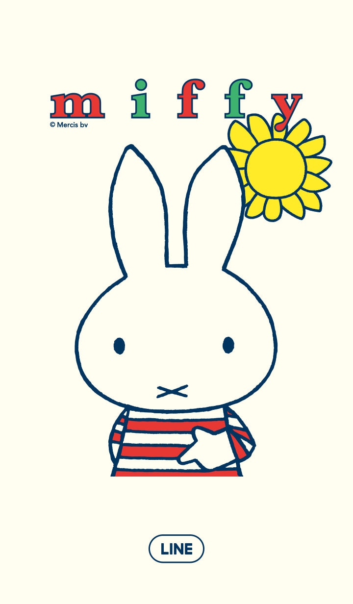 ธีมไลน์ Miffy Stripes