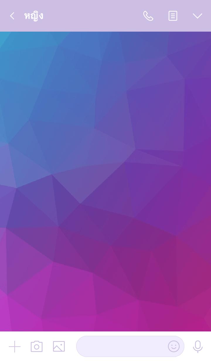 ธีมไลน์ Polygon [09] : Blue & Purple