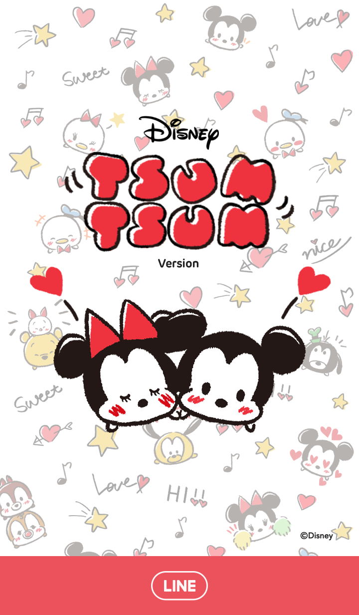 ธีมไลน์ Disney Tsum Tsum (ลายเส้นการ์ตูน)