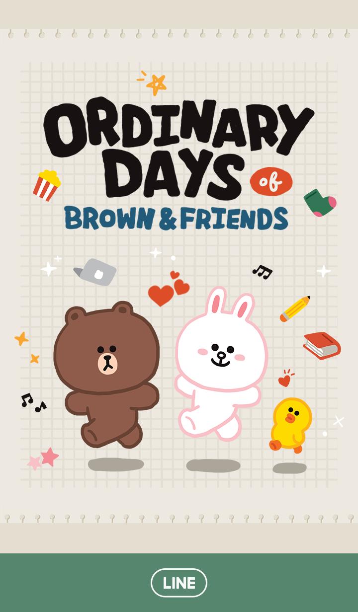 ธีมไลน์ BROWN ORDINARY DAYS