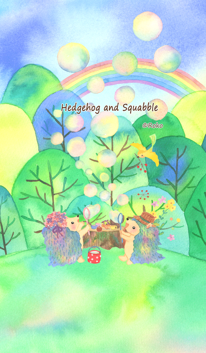 ธีมไลน์ Hedgehog and Squabble