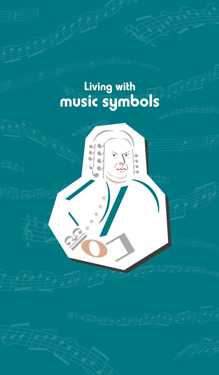 ธีมไลน์ Living with music symbols -musician-