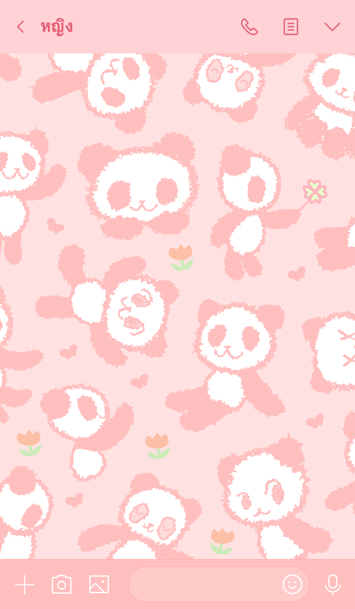 ธีมไลน์ Always PANDAs pink