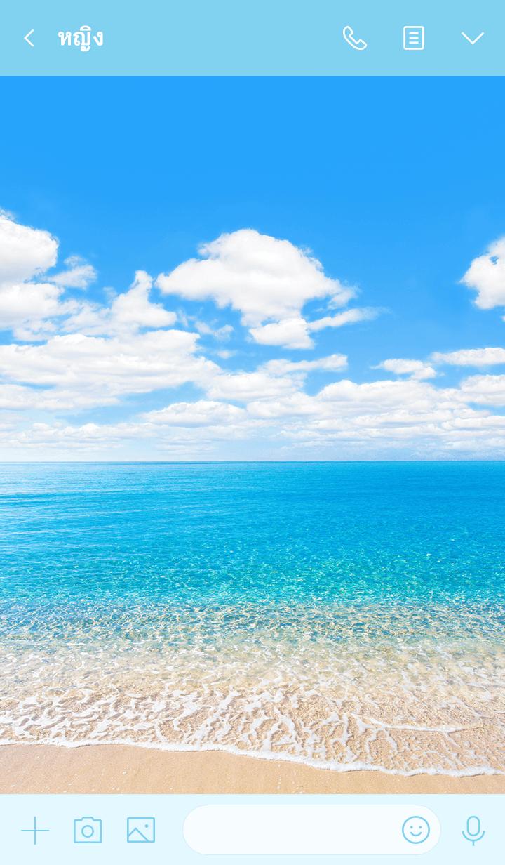 ธีมไลน์ Theme of Healing Sea
