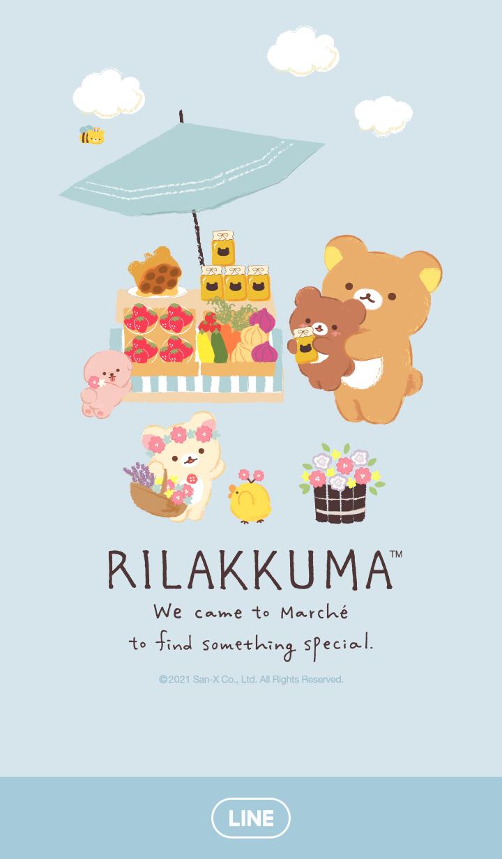 ธีมไลน์ Rilakkuma marché