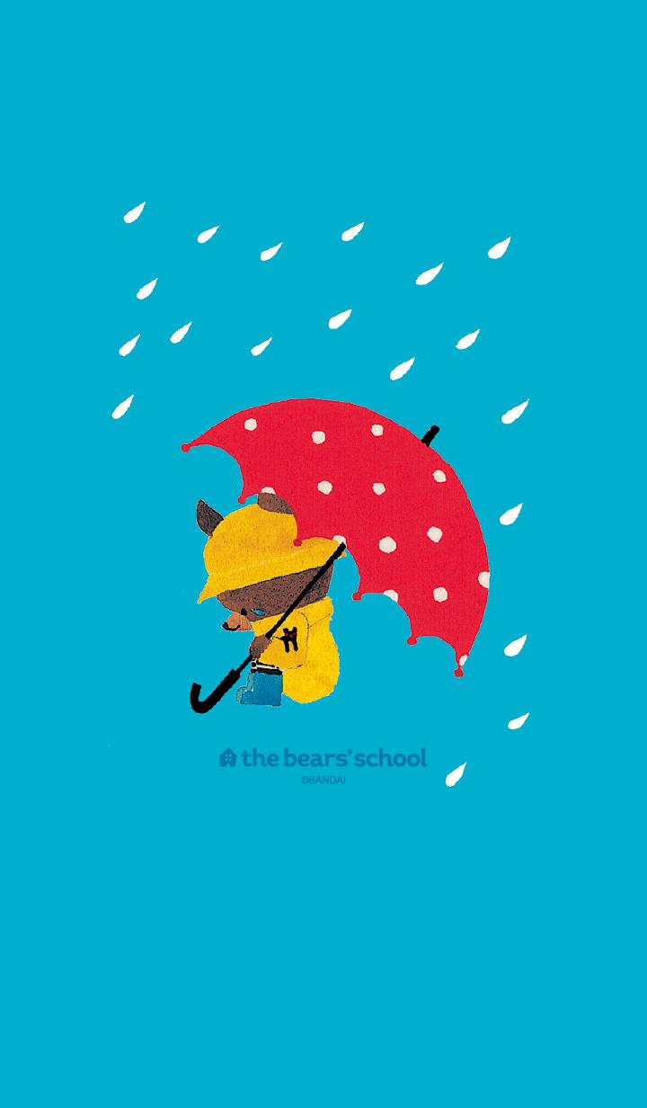ธีมไลน์ The bear's school Jackie on a rainy day
