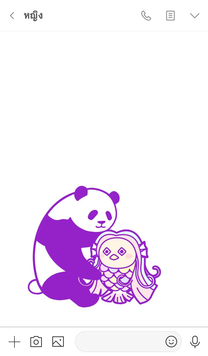 ธีมไลน์ Pandan Amabie