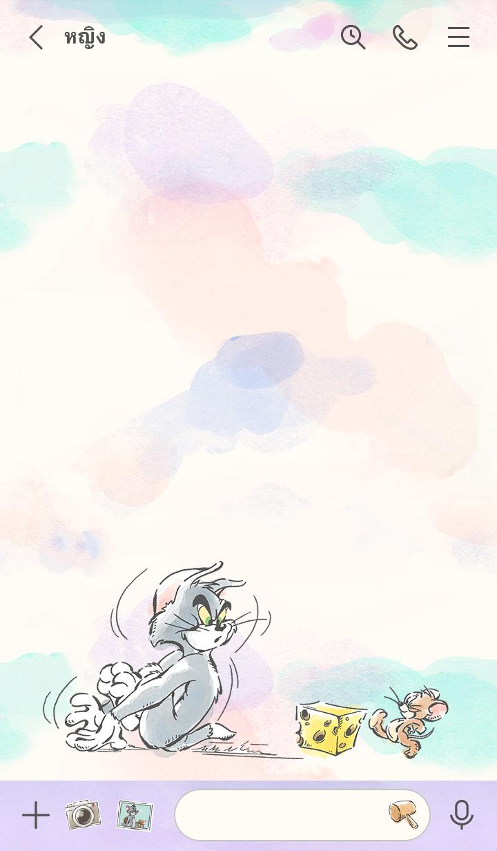 ธีมไลน์ Tom and Jerry: Watercolor Style