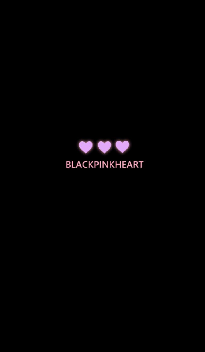 ธีมไลน์ สีดำและสีชมพู หัวใจ