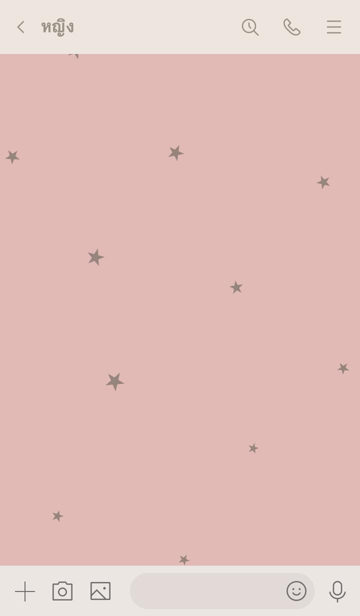 ธีมไลน์ Pink beige and Greige stars.
