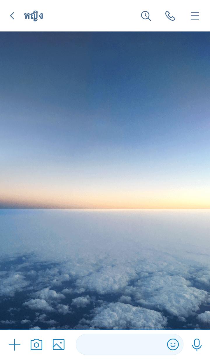 ธีมไลน์ Sea of clouds design