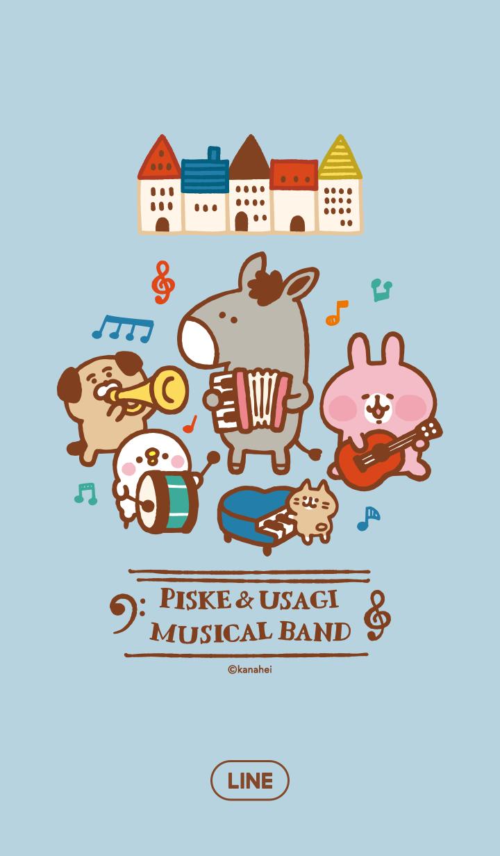 ธีมไลน์ Piske & Usagi วงดนตรีแห่งความสุข