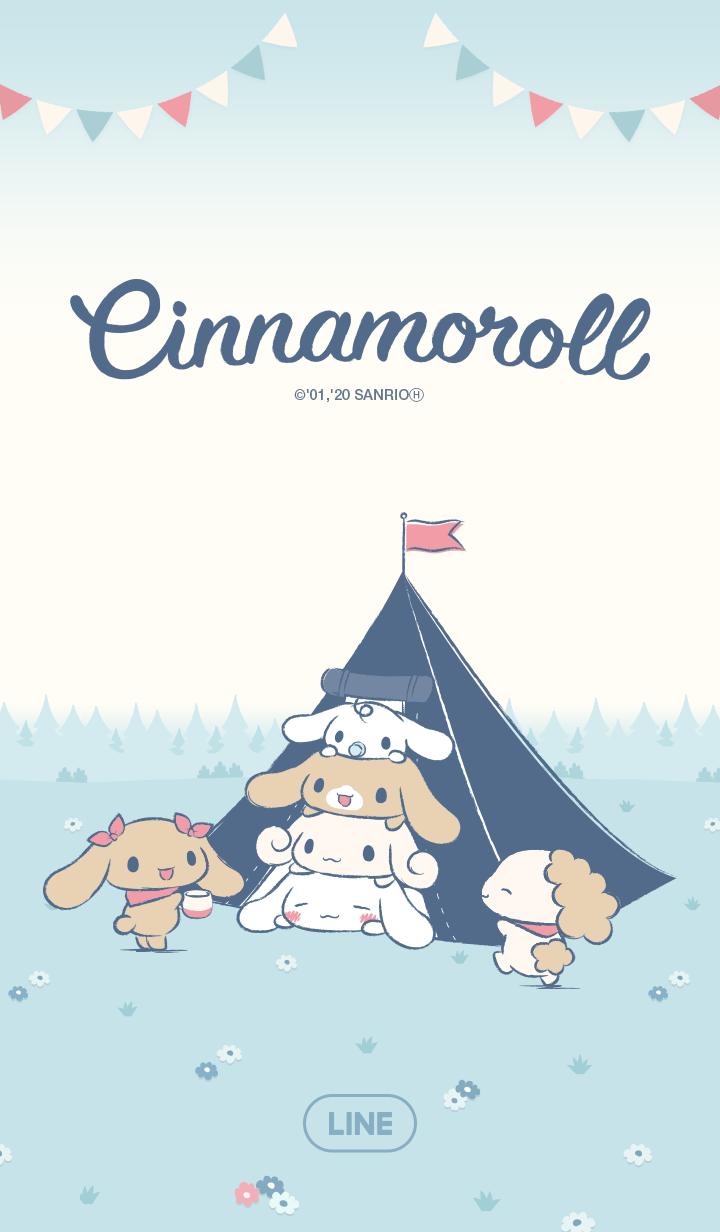 ธีมไลน์ Cinnamoroll แคมป์นี้น่ารัก