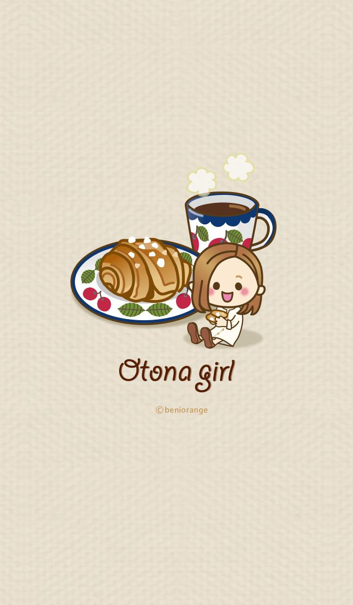 ธีมไลน์ Hokuou OTONA_girl