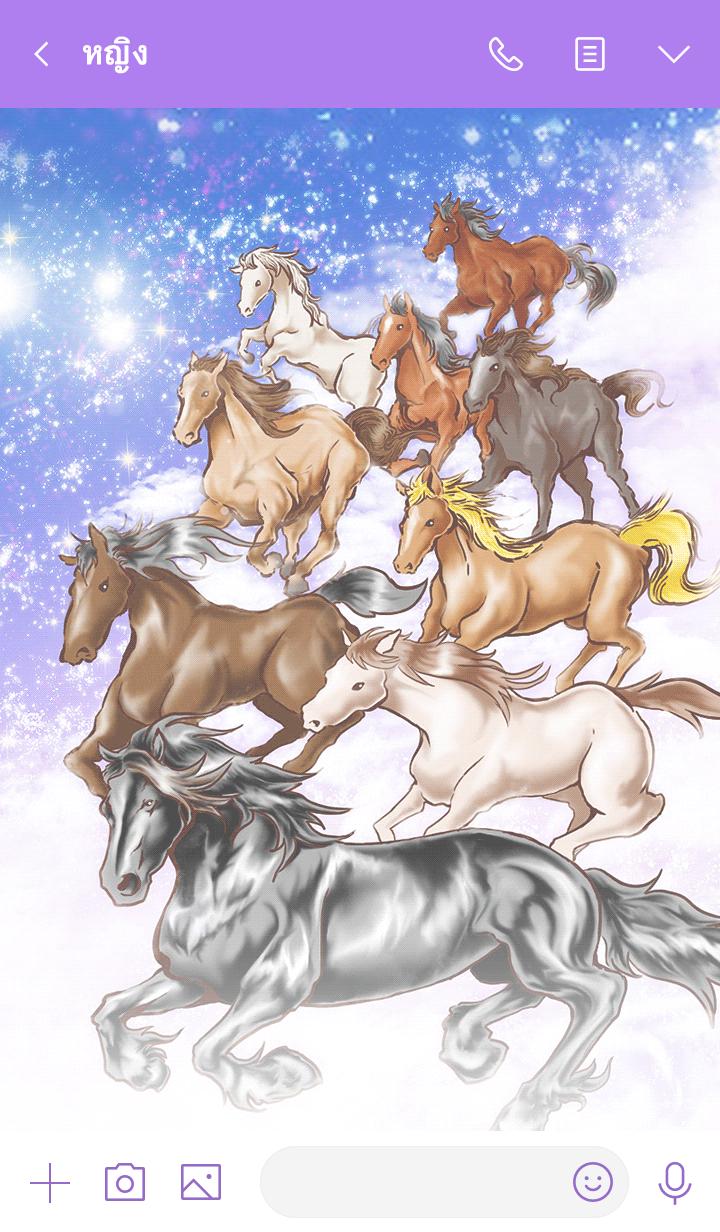 ธีมไลน์ Ninehorses of God that power up all luck