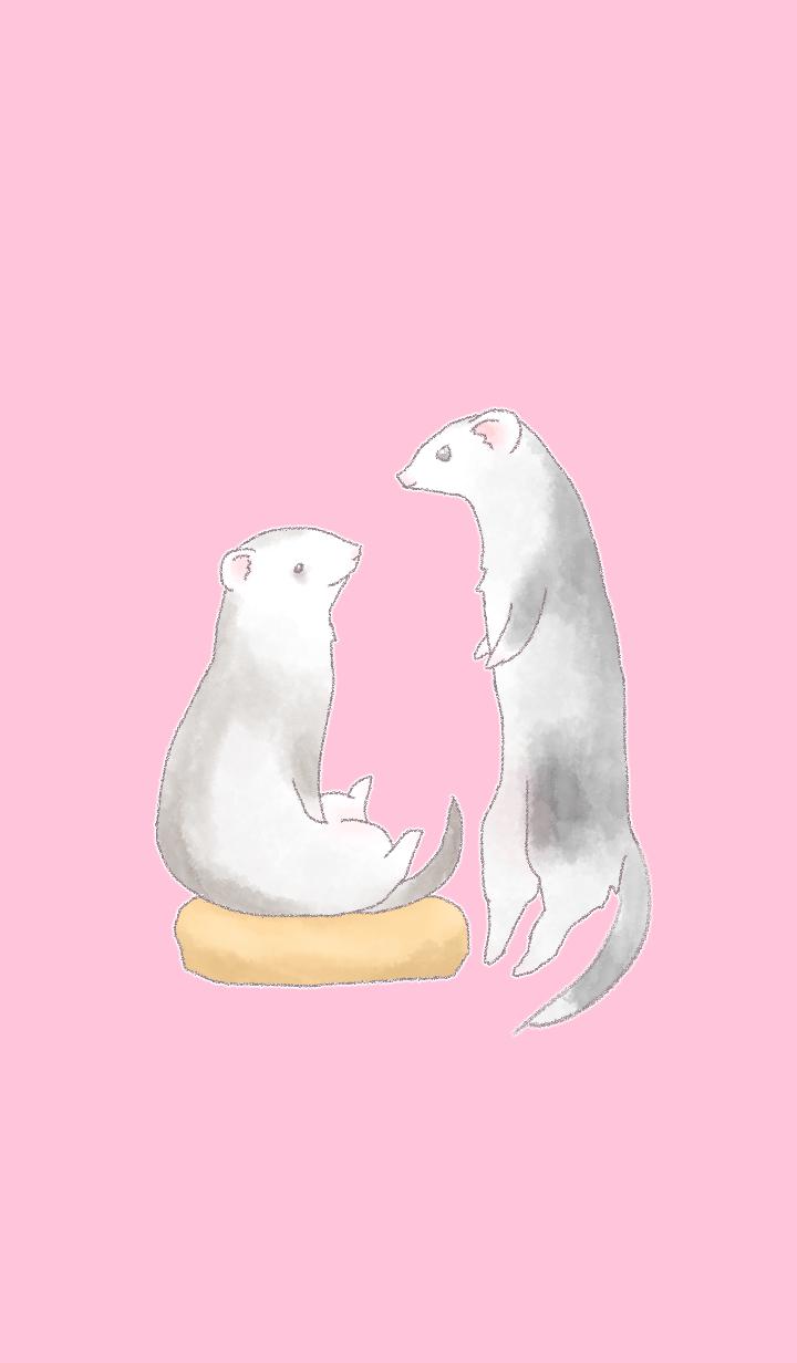 ธีมไลน์ Naughty ferret