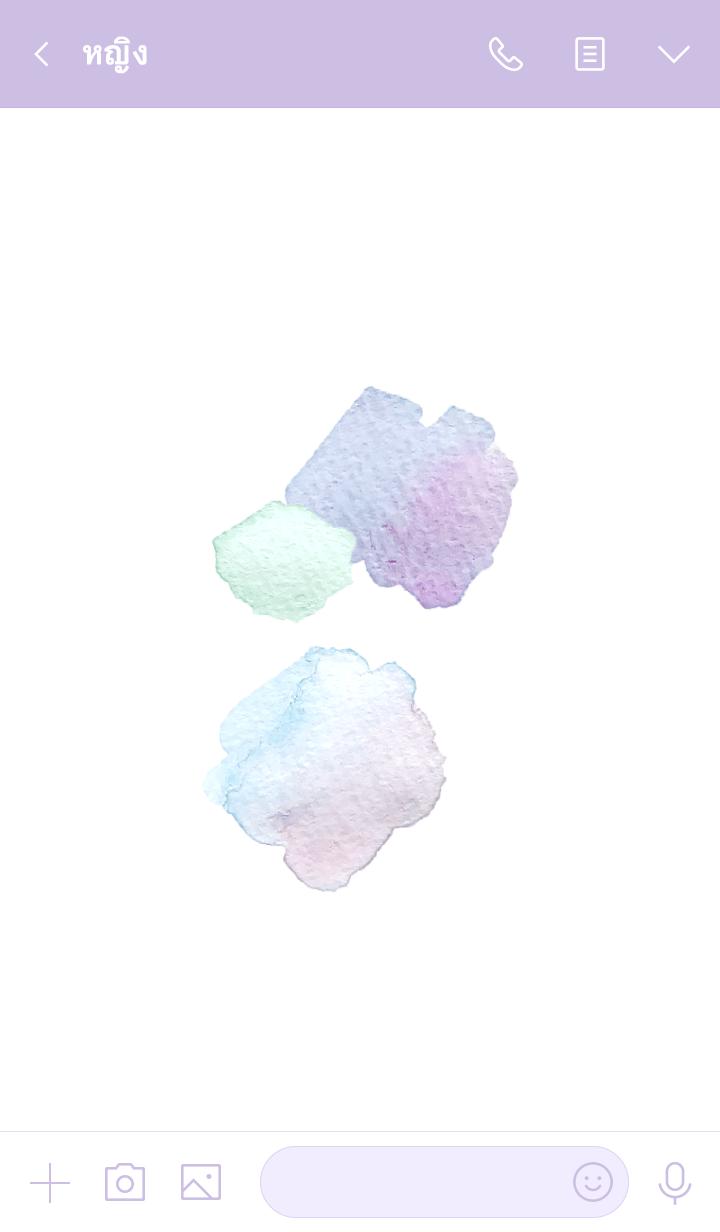 ธีมไลน์ ice cream. Watercolor theme