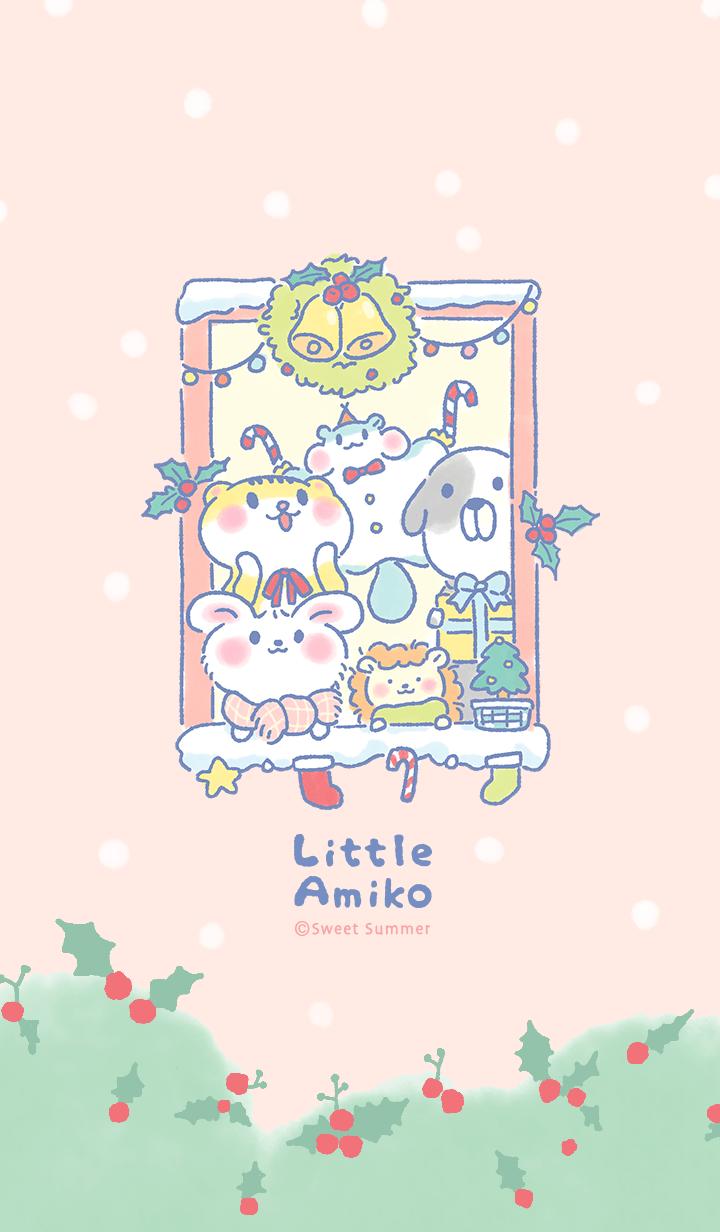 ธีมไลน์ Little Amiko : Christmas Gathering (JP)